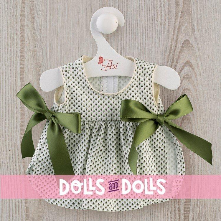Ropa para Muñecas Así 36 cm - Vestido de flores verdes con lazos para muñeca Guille