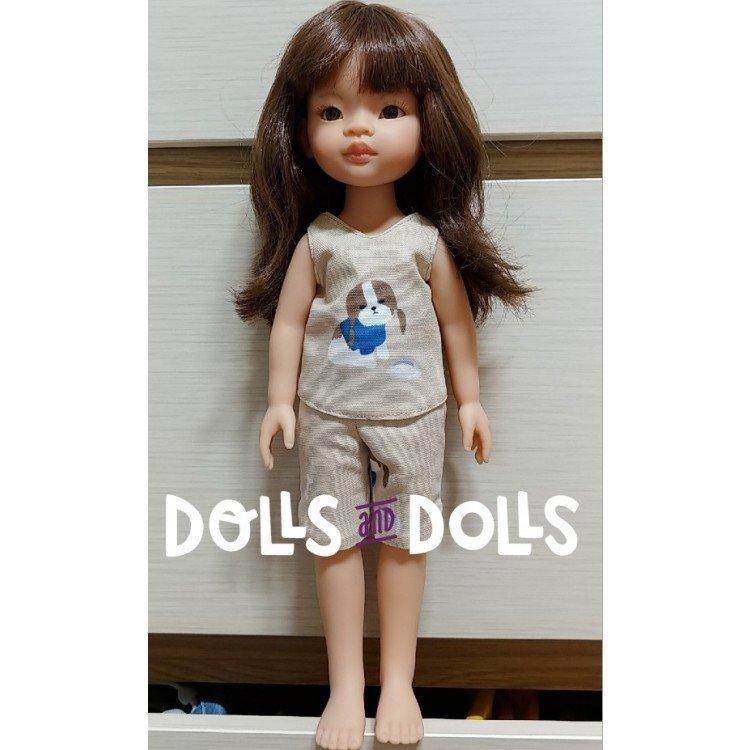 Patrón descargable Dolls And Dolls para muñecas Las Amigas - Pantalón corto con blusa