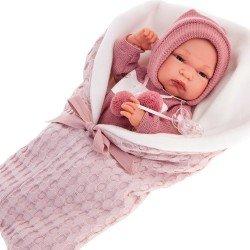 Muñeca Antonio Juan 33 cm - Baby Toneta con saco lila