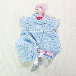 Ropa para muñecas Antonio Juan 33-34 cm - Pelele azul con gorro