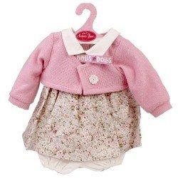 Ropa para muñecos Antonio Juan 40-42 cm - Conjunto de flores con chaqueta rosa