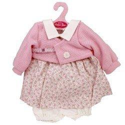 Ropa para muñecos Antonio Juan 40-42 cm - Conjunto de flores rosas con chaqueta rosa