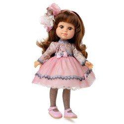 Muñeca Berjuán 35 cm - Boutique dolls - My Girl castaña con vestido de tul