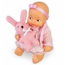 Muñeca Barriguitas Clásica 15 cm - Set de bebé con ropita rosa