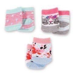 Complementos para muñeca Götz 30-50 cm - Set de calcetines Dins y Cats