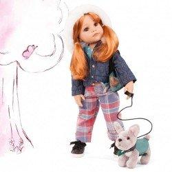 Muñeca Götz 50 cm - Hannah and her dog 2021