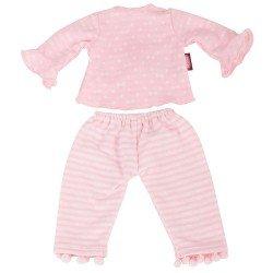 Ropa para muñeca Götz 45-50 cm - Pijama rosa con pompones