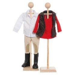 Ropa para muñecas KidznCats 46 cm - Conjunto para montar a caballo