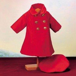 Ropa para muñeca Mariquita Pérez 50 cm - Abrigo rojo con boina