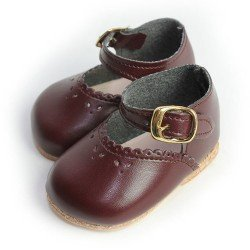 Complementos para muñecas Mariquita Pérez 50 cm - Zapatos granate
