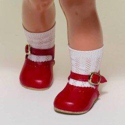 Complementos para muñeca Mariquita Pérez 50 cm - Zapatos rojo