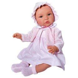 Muñeca Así 46 cm - Leo con vestido rombos mini rosa con chaqueta rosa