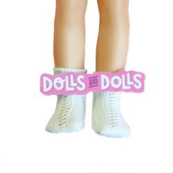 Complementos para muñecas Paola Reina 32 cm - Las Amigas - Calcetines calados blancos