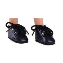 Complementos para muñecas Paola Reina 32 cm - Las Amigas - Zapatos negros con cordones