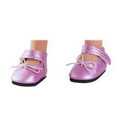 Complementos para muñecas Paola Reina 32 cm - Las Amigas - Zapatos rosas con lazo y velcro