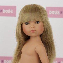 Muñeca Vestida de Azul 28 cm - Carlota rubia con flequillo sin ropa