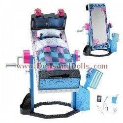 Accesorio para muñeca Monster High - Cama Espejo de Frankie Stein