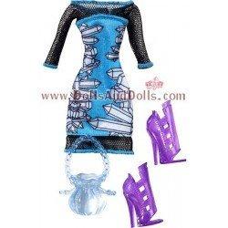 Ropa para muñecas Monster High 27 cm - Vestido de Abbey Bominable