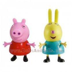 Figuras Peppa Pig y Rebecca Rabbit