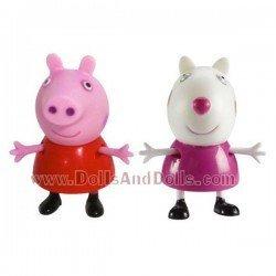 Figuras Peppa Pig y Suzy Sheep