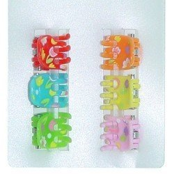 Complementos para muñecas - Pinzas colores Set 6 unidades