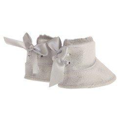 Complementos para muñecas Antonio Juan 40-52 cm - Botas gris con brillo