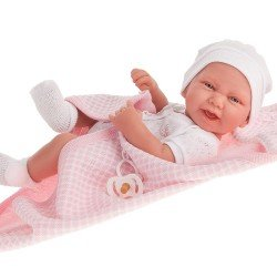 Muñeca Antonio Juan 42 cm - Recién nacida Carla con capa de baño