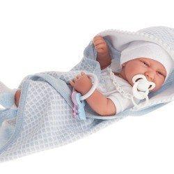 Muñeco Antonio Juan 42 cm - Recién nacido Carlo con capa de baño
