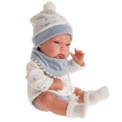Muñeco Antonio Juan 33 cm - Baby Tonet con baberito