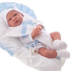 Muñeco Antonio Juan 40 cm - Nacido cojín azul