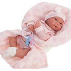 Muñeca Antonio Juan 40 cm - Nica manta rosa