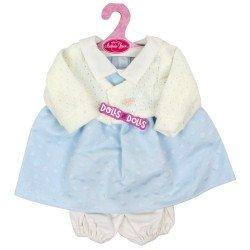 Ropa para muñecos Antonio Juan 40-42 cm - Vestido de lunares azules con chaqueta