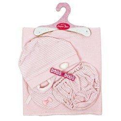 Ropa para muñecas Antonio Juan 40-42 cm - Set rosa con toquilla, braguita, gorro y pechito