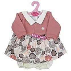 Ropa para muñecos Antonio Juan 40-42 cm - Vestido estampado de flores con chaqueta rosa