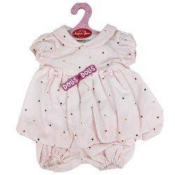 Ropa para muñecos Antonio Juan 40-42 cm - Vestido rosa con estrellas y braguita a juego