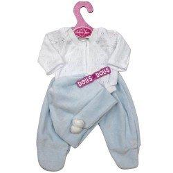 Ropa para muñecos Antonio Juan 33-34 cm - Pijama azul y blanco con gorro