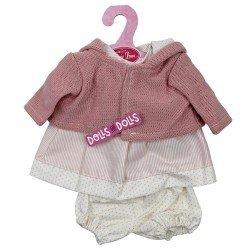 Ropa para muñecos Antonio Juan 33-34 cm - Conjunto de rayas y puntos rosa con chaqueta