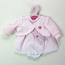 opa para muñecas Antonio Juan 33-34 cm- Vestido hexágonos rosas con chaqueta rosa