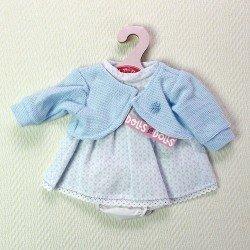 Ropa para muñecas Antonio Juan 33-34 cm- Vestido hexágonos azules con chaqueta azul