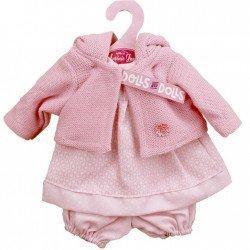 Ropa para muñecas Antonio Juan 33-34 cm - Vestido estampado panal con chaqueta rosa