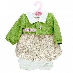 Ropa para muñecos Antonio Juan 40-42 cm - Conjunto de flores con chaqueta verde