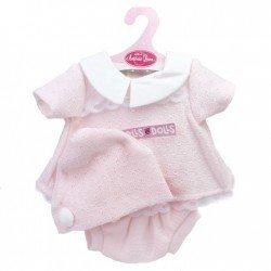 Ropa para muñecos Antonio Juan 40-42 cm - Conjunto rosa con gorro
