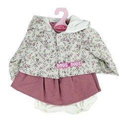 Ropa para muñecos Antonio Juan 40-42 cm - Conjunto rosa con chaqueta de flores