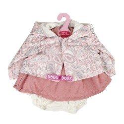 Ropa para muñecos Antonio Juan 40-42 cm - Conjunto rosa con chaqueta cachemir