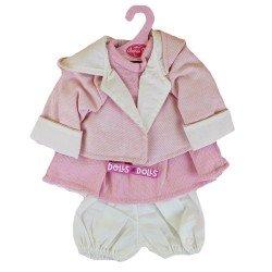 Ropa para muñecos Antonio Juan 40-42 cm - Conjunto rosa con chaqueta con capucha