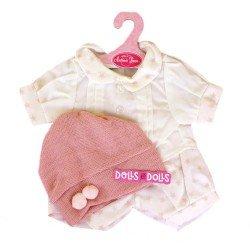 Ropa para muñecos Antonio Juan 40-42 cm - Conjunto estampado de estrellas con gorro rosa