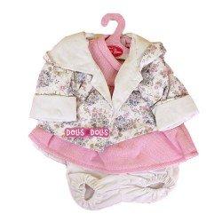 Ropa para muñecos Antonio Juan 40-42 cm - Conjunto rosa con chaqueta estampada de flores