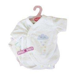Ropa para muñecos Antonio Juan 40 - 42 cm - Colección Sweet Reborn - Body con nube azul con pañal