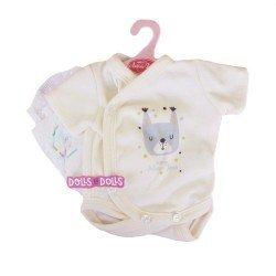 Ropa para muñecos Antonio Juan 40 - 42 cm - Colección Sweet Reborn - Body crema con perrito con pañal