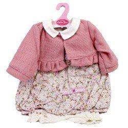 Ropa para muñecos Antonio Juan 55 cm - Conjunto estampado de flores con chaqueta rosa